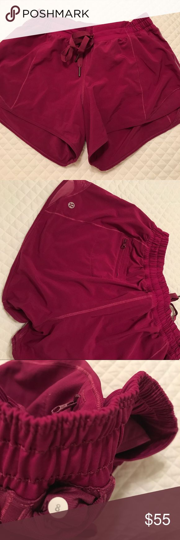 Lululemon Hotty Hot Long BRAND NEW. PERFECT CONDITION. BOUGHT LAST WEEK AT LULULEMON STORE. Beautiful purple color! lululemon athletica Shorts