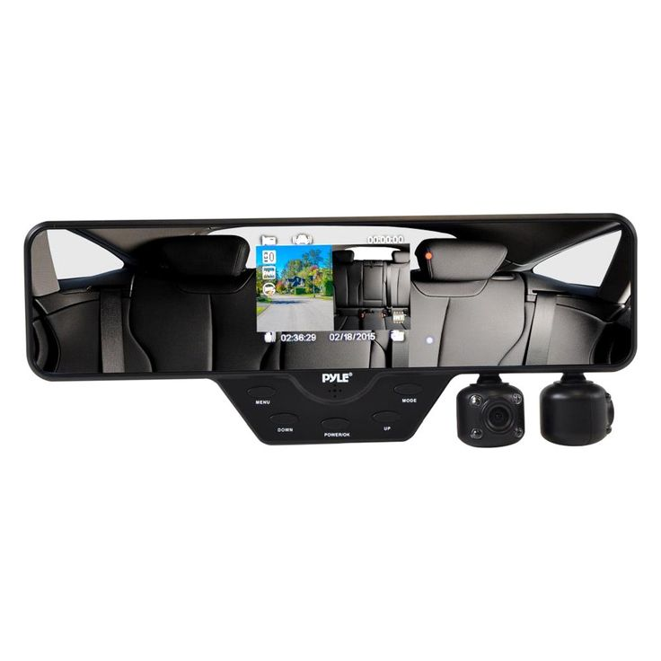 """Definitely want! Pyle® - Rear View Mirror with Built-in 3.5"""" Monitor/2 Swivel Rotating DVR Cameras"""