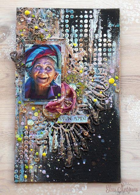 Elena Martynova: Холст с бабулей \ Canvas with funny Granny