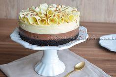 Cheesecake de chocolate preto e branco | Receitas e Temperos