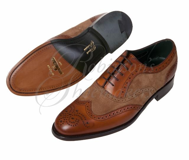 "The James Buchanan in Chestnut Calf & Beige Suede, one for the ""wants"" list...the ""I wants now!"" list. Very attractive informal wear that would suite my hair and sock choice this time of year."