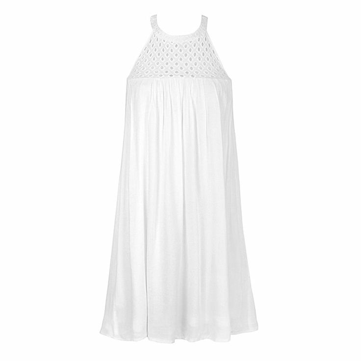 PRETTY EMBROIDERED CUT OUT NECK DRESS = $29.99