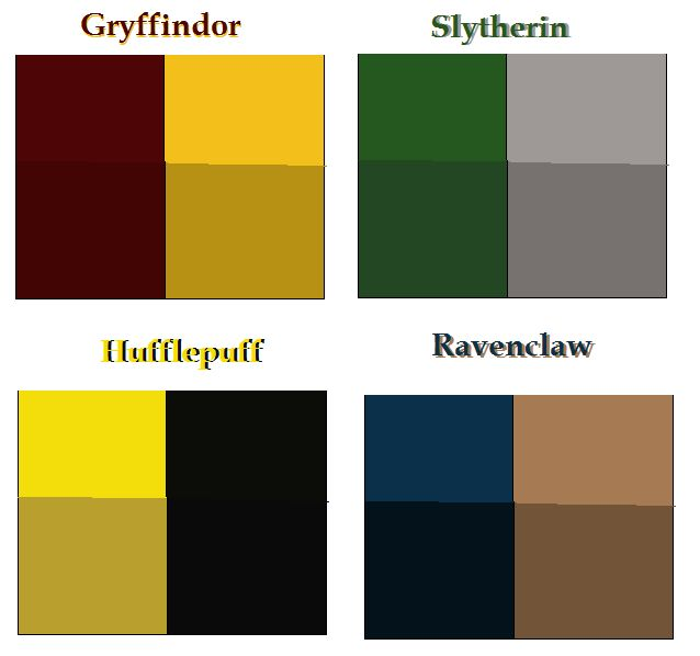 Hogwarts House colors base by airbender01.deviantart.com on @deviantART