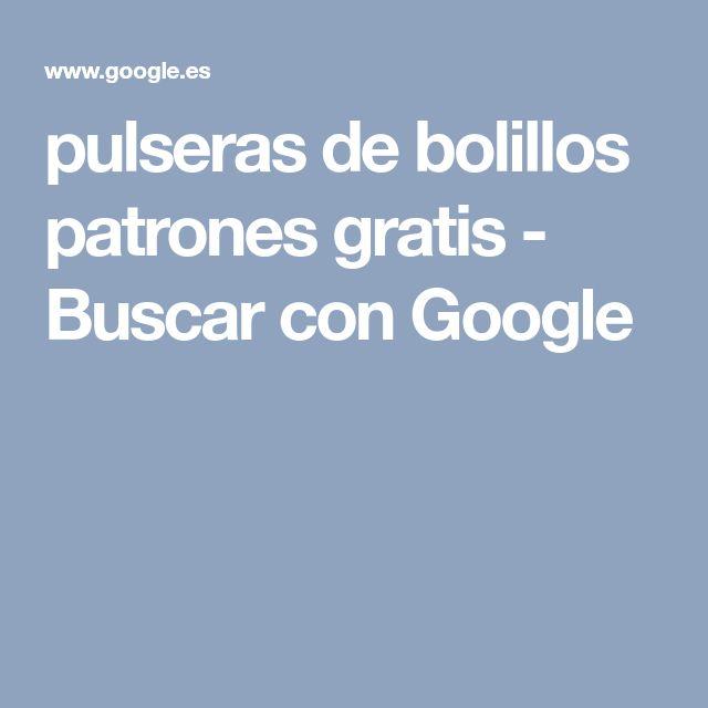 pulseras de bolillos patrones gratis - Buscar con Google