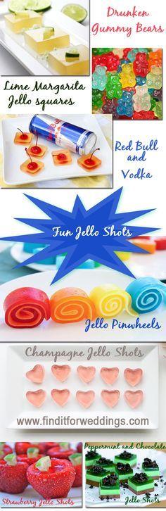 The best jello shot recipes for weddings or parties www.finditforweddings.com alcoholic jello shot recipes