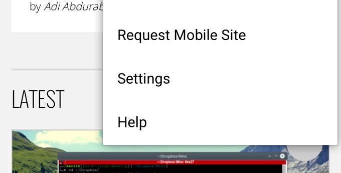 How To Request The Mobile Site In Chrome Mobile