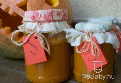 Narancsos-gyömbéres sütőtöklekvár