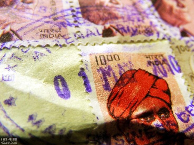 (c) Melissa Stuebing 2010    Stock stamp India postage