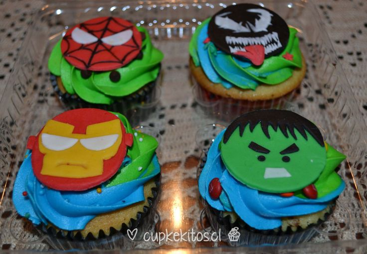 #cupcakes #ironman #hulk #spiderman #superheroes