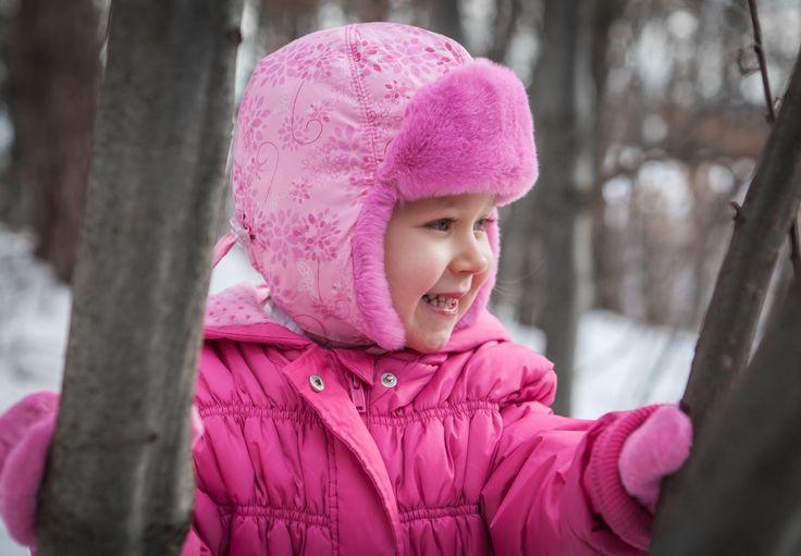 Trapper cap for a girl. Uszanka dla dziewczynki!