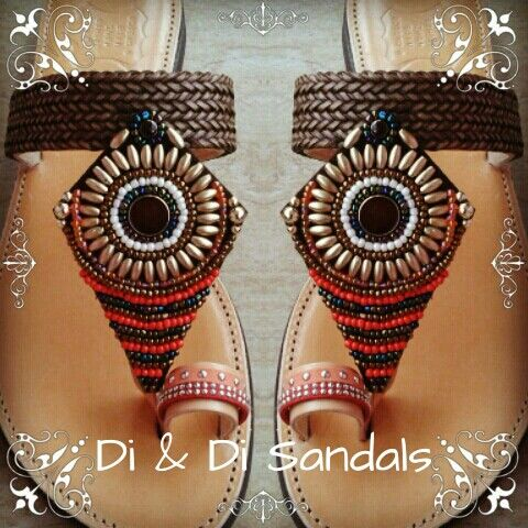 Ethnic leather sandal