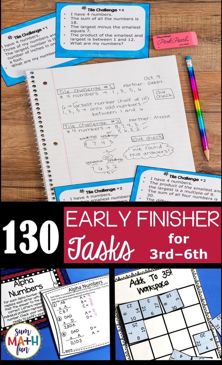 """Don't let your early finishers and gifted students create chaos in your classroom. Be ready for them. Keep them engaged and challenged. Keep them learning even if they seem to already know everything. Check out these FREE tasks with connections to a huge bundle of challenges so you'll never hear, """"I'm done!"""" again."""