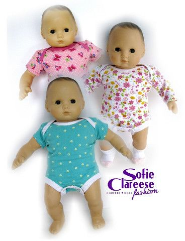 Onsie doll pattern with t-shirt pattern