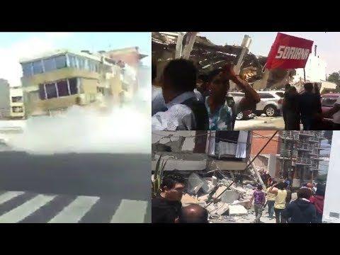 ASI SE VIVIO EL TERREMOTO EN CDMX 19/09/17 (7.1) - YouTube