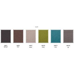 Sengegavl i minimalistisk design og slitesterkt stoff. Leveres i flere ulike farger i stoff og kunstskinn, se fargekart.   Sengegavlen på bildet er i mørk grå HAR2. $5,260.00