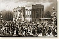 The Inauguration of President Andrew Jackson, 1829 the party had a lot of people that were drunk and passed out because they were too drunk