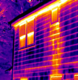 See Fire behind wall with thermography