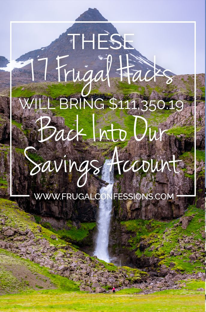 Checkout 17 frugal hacks that this lady is using to add $111,350.19 back into her savings account. Wowza!  …