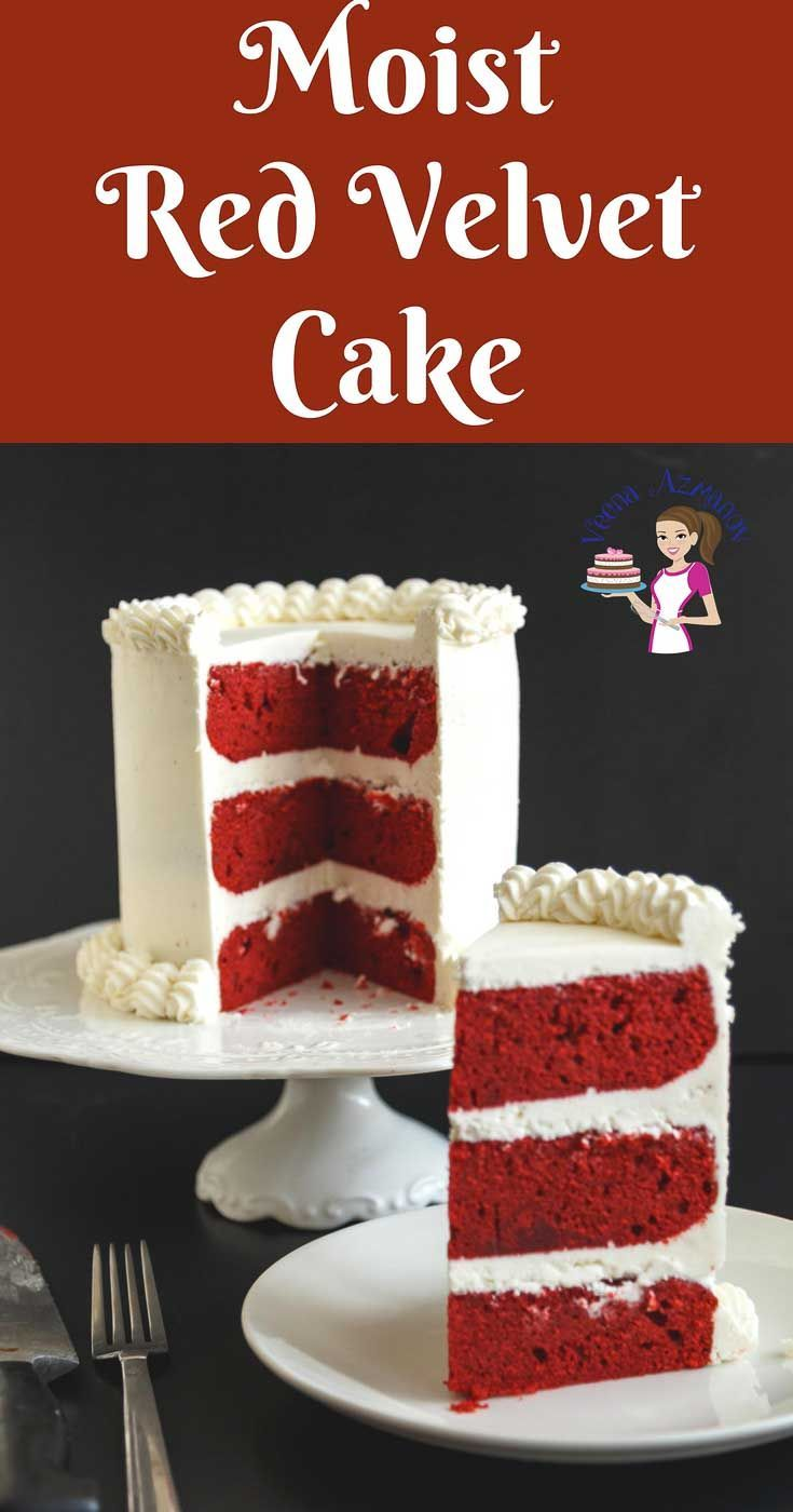 This Red Velvet Cake Has A Classic Sponge Texture That S Light And Airy Moist Cake Velvet Cake Recipes Red Velvet Cake Recipe Moistest Red Velvet Cake Recipe