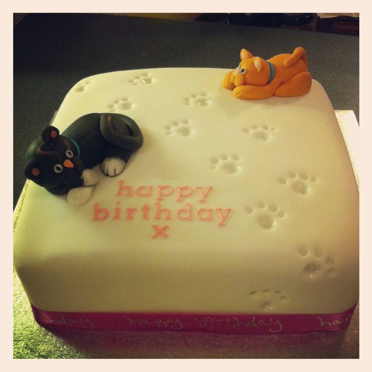 32 best Cat birthday images on Pinterest Cat birthday cakes Cat