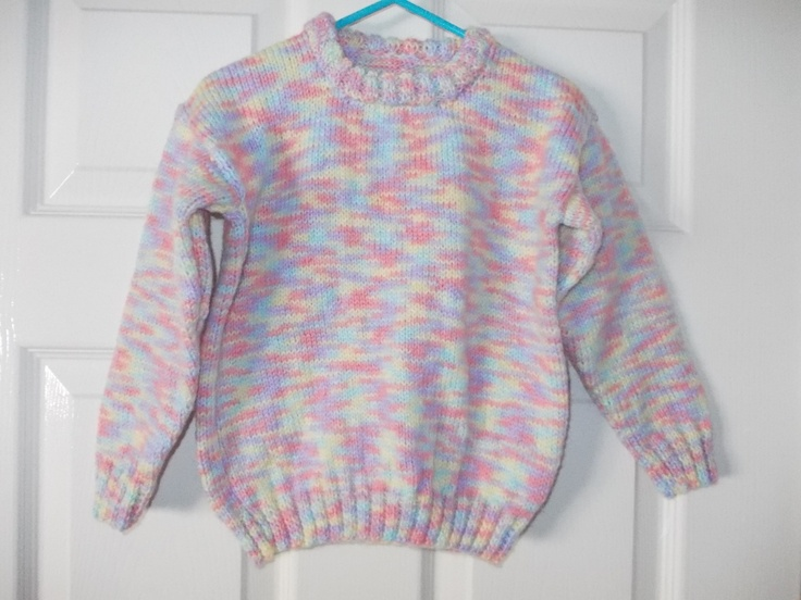 Multi coloured jumper would go with allsorts of colours aged 3-4 years