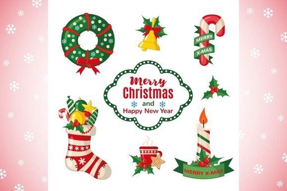 Christmas set by romawka on @creativemarket