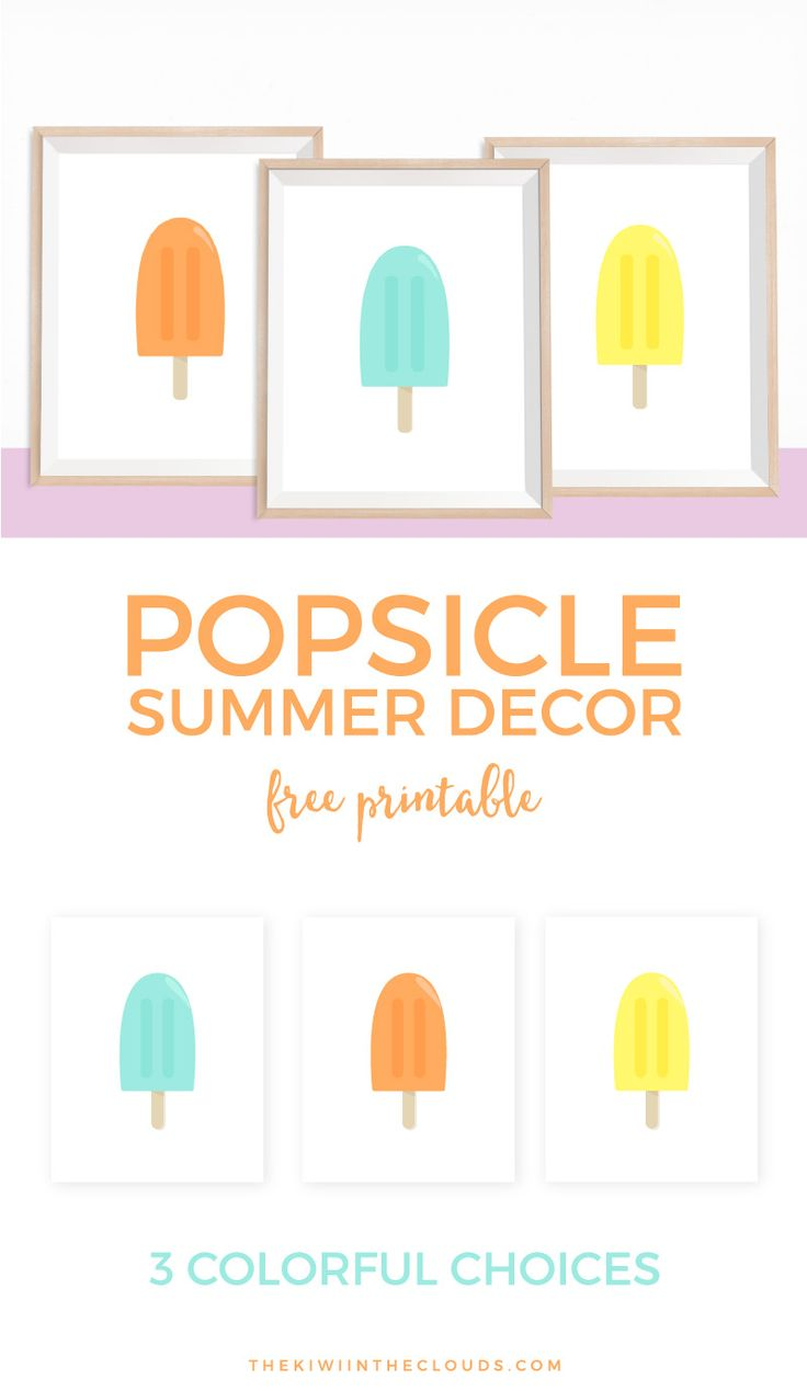 Color crew printables - These Free Printable Popsicle Art Printables Are The Ideal Way To Decorate Your Home During The