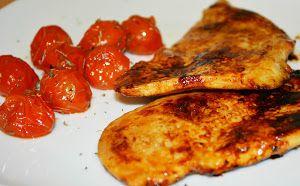Acompáñalos, además, con unos tomates cherry confitados, y ya tendrás listo un plato de 10. La idea es del blog PORQUE ME GUSTA LO FÁCIL.