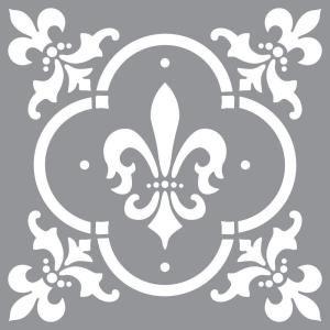 DecoArt Americana Decor Fleur de Lis Tile Stencil-ADS04-K at The Home Depot