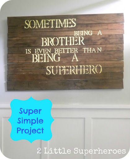 DIY Superhero Art - 2 Little Supeheroes