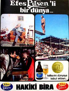 Efes Pilsen bira 1972 nostaljik eski reklamlar.