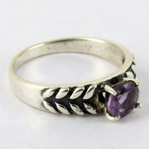 Circle Of Hope !! Amethyst 925 Sterling Silver RingARCT1145-3 #Handmade