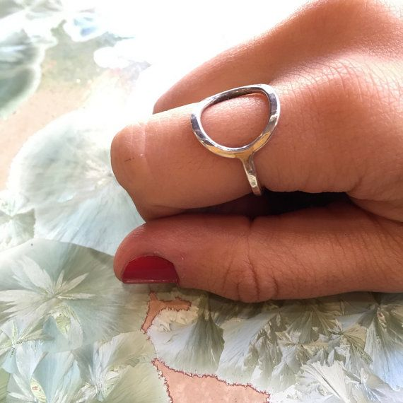 Minimalist ring round ring boho ring sterling by artisanlook