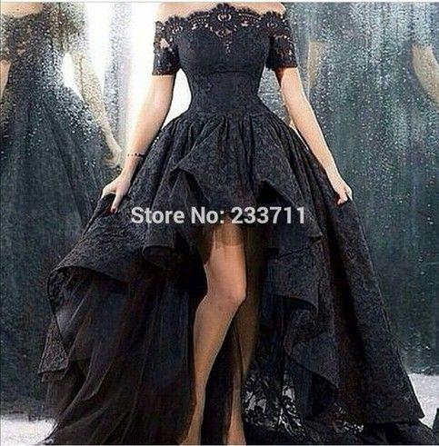 Balck Lace Evening Dress Prom Dress Bridal Gown