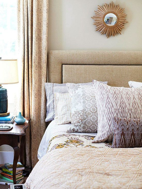 If you start with a neutral base, add patterns and textures to create visual interest.