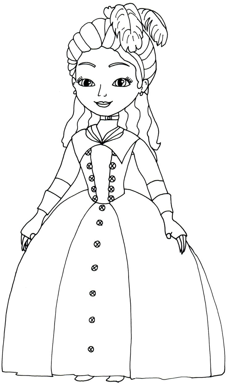 Princess hildegard coloring pages - Princess Sofia Coloring Page Google S Gning