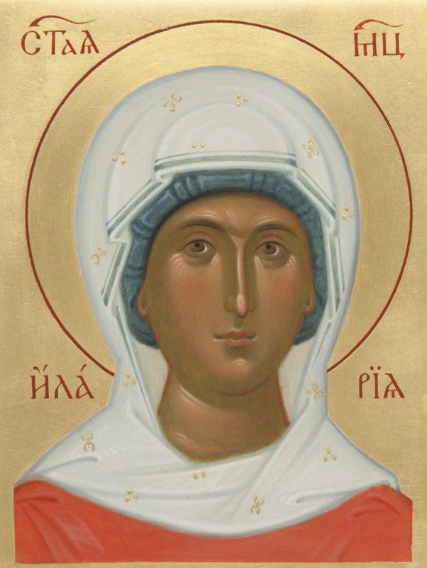 Icon of St Hilaria - Hand-Painted Icon from the Workshop of St. Elisabeth Convent - To learn more about our Icon Painting Studio: http://catalog.obitel-minsk.com/icon-painting - Worldwide Delivery - #CatalogOfGoodDeeds #Orthodox #Icons - #OrthodoxIcons #Orthodoxy, #Miracle, #Blessed #Faith #Handpainted #Saint #Hilaria