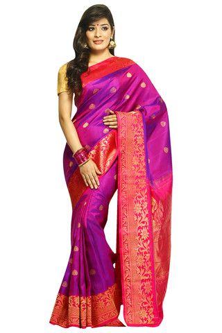 Buy Gadwal Silk Sarees Online @ India Sari House