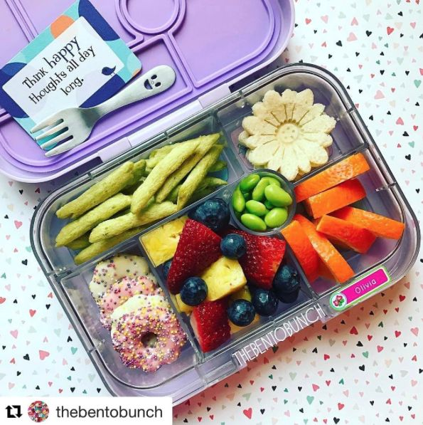 @thebentobunch has the right idea - think happy thoughts all day long! This note is from Lunchbox Love® for Kids Volume 86.