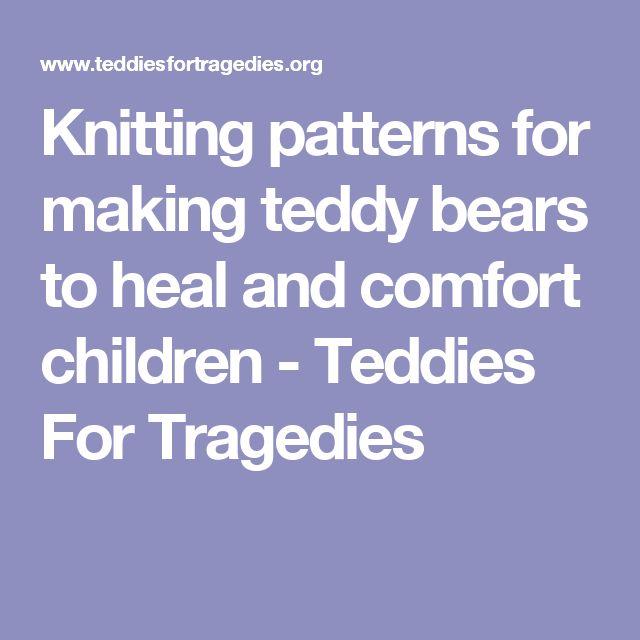 7 best Trauma Teddies images on Pinterest Knitted animals, Trauma and Amigu...