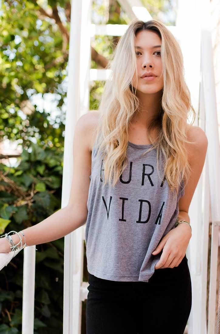 Sleeveless Top - Winter Blues by VIDA VIDA Fashionable Cheap Price Low Price Fee Shipping Sale Online Free Shipping Sneakernews nsRtLWw