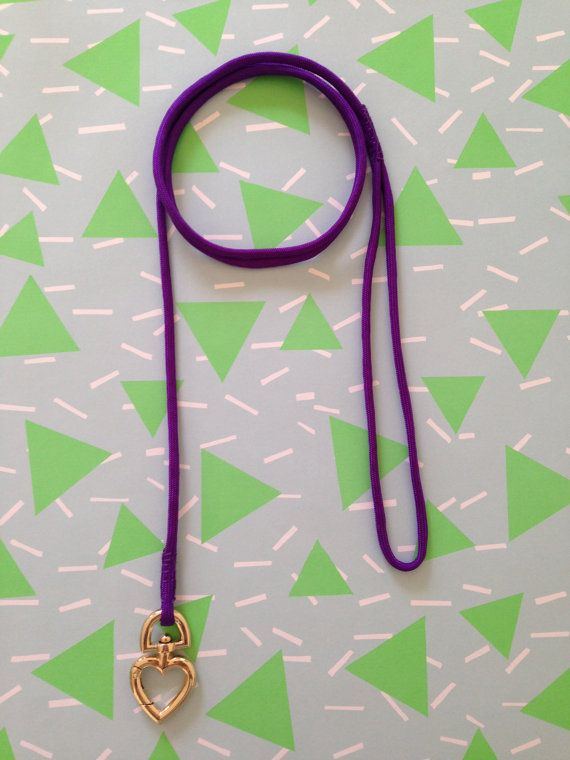 Purple Dog Lead with Love Heart Clip