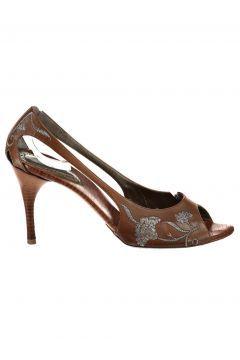 Bottega Veneta Kadın Kahve Topuklu Ayakkabı