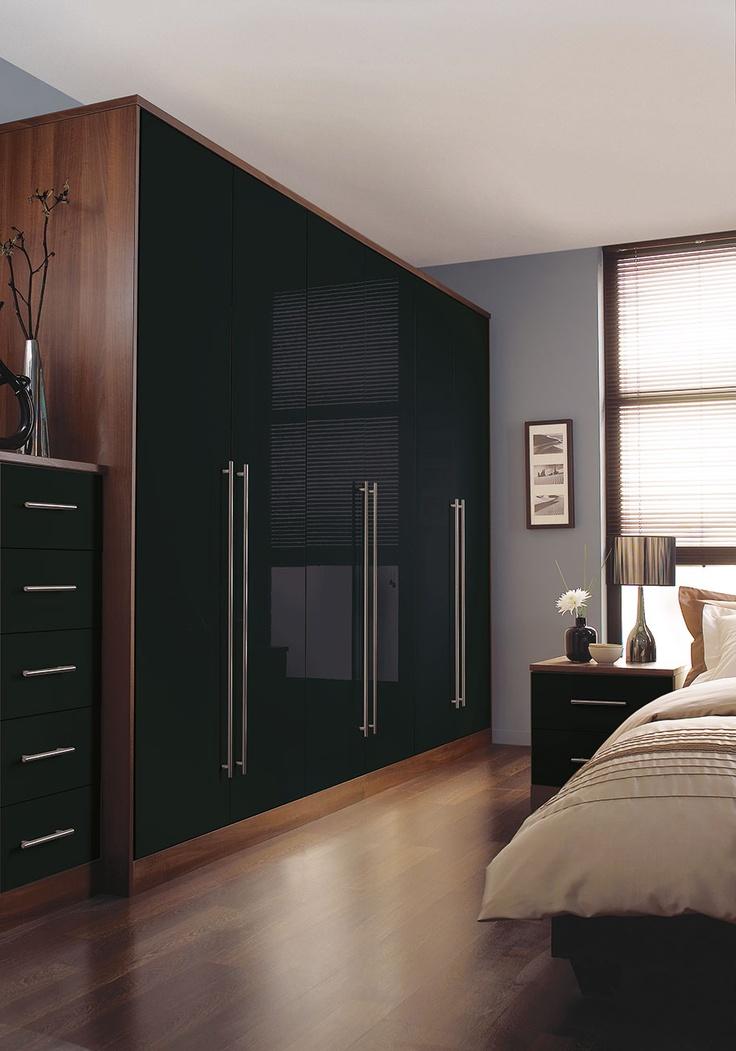 Slick, modern #bedroom Blue.. Timber.. Cream..