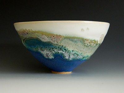 Jan Lewin-cadogan Ceramicist, thrown stoneware with crater and barium glazes : Spring