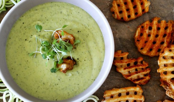 Zucchini & Edamame soup | Recipes // Soups | Pinterest