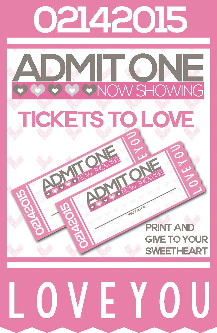 Free Printable Tickets To Love Valentine Coupon Book Frugal