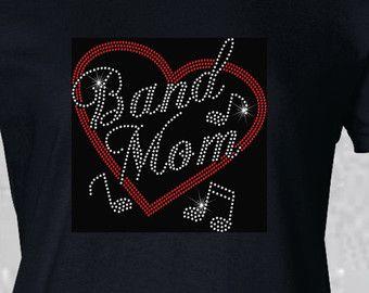 Rhinestone Band Mom Shirt Bling Band Shirt by Ravensnestts on Etsy