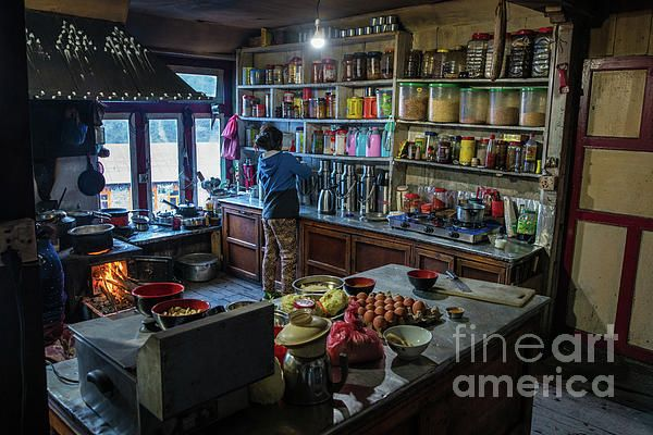 Teahouse kitchen along the trail to Everest Base Camp Photography by Mike Reid