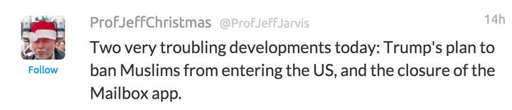 Missing @ProfJeffJarvis Parody Twitter Account Does Not Appear To Be Suspended